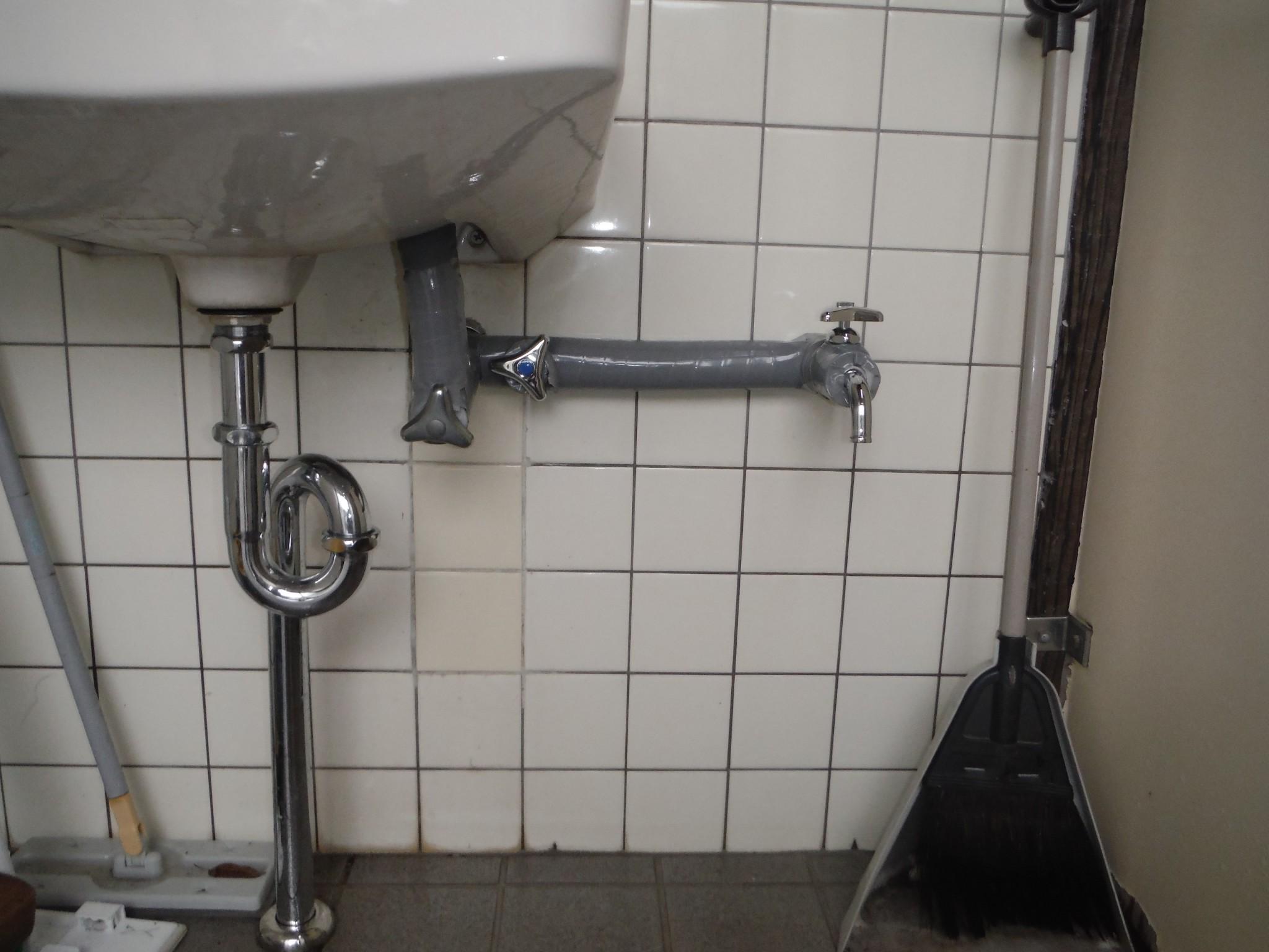 手洗水栓取替修繕工事