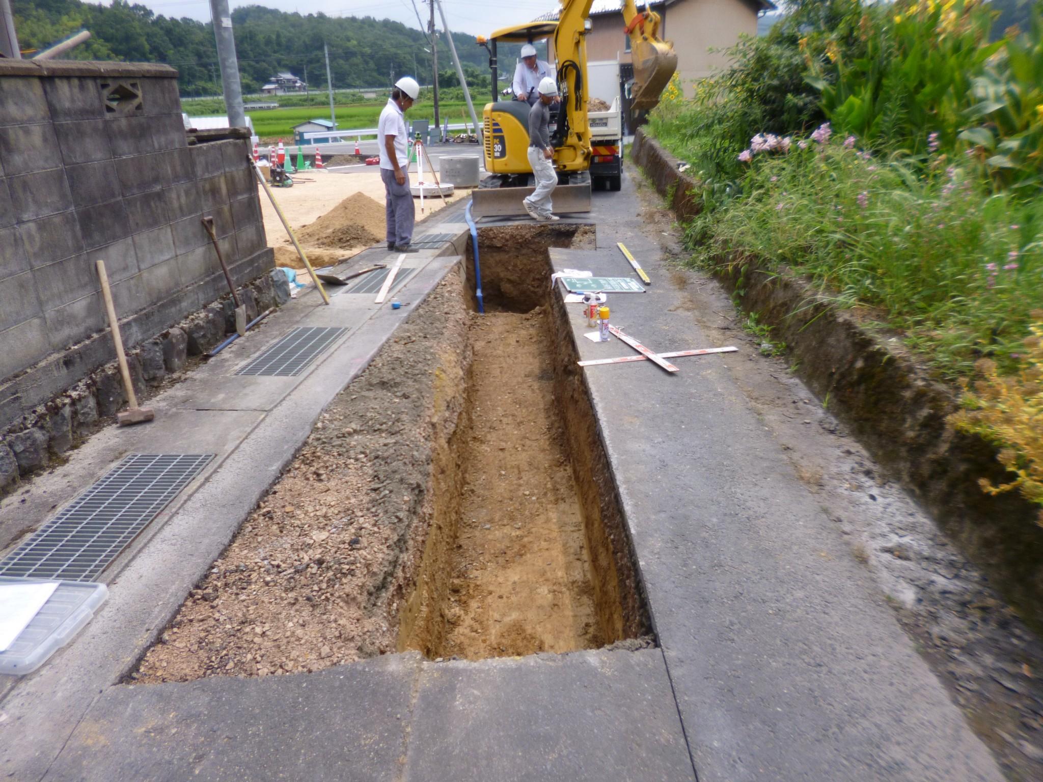 給排水管布設工事