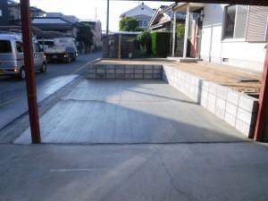 駐車場造成工事