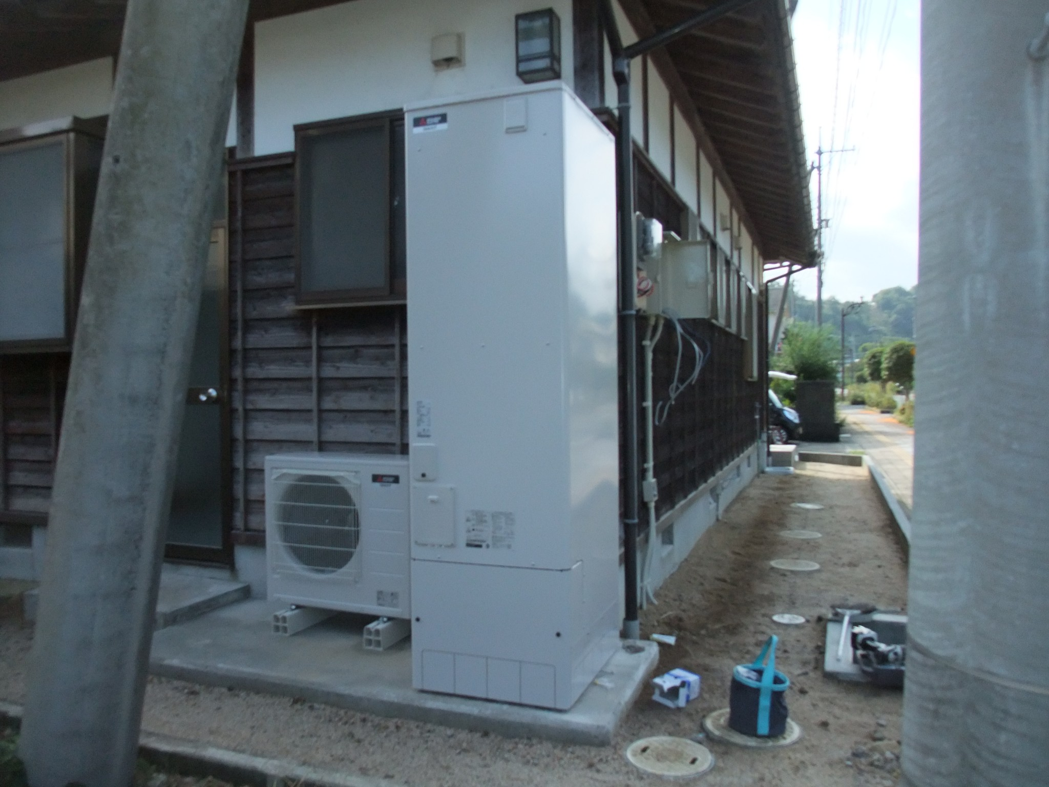 K様邸オール電化に伴う設備機器取替え工事
